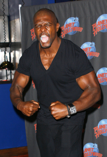 "Terry Crews Promotes ""Gamer"" with a Memorabilia Donation Ceremony at Planet Hollywood in New York on August 11, 2009"